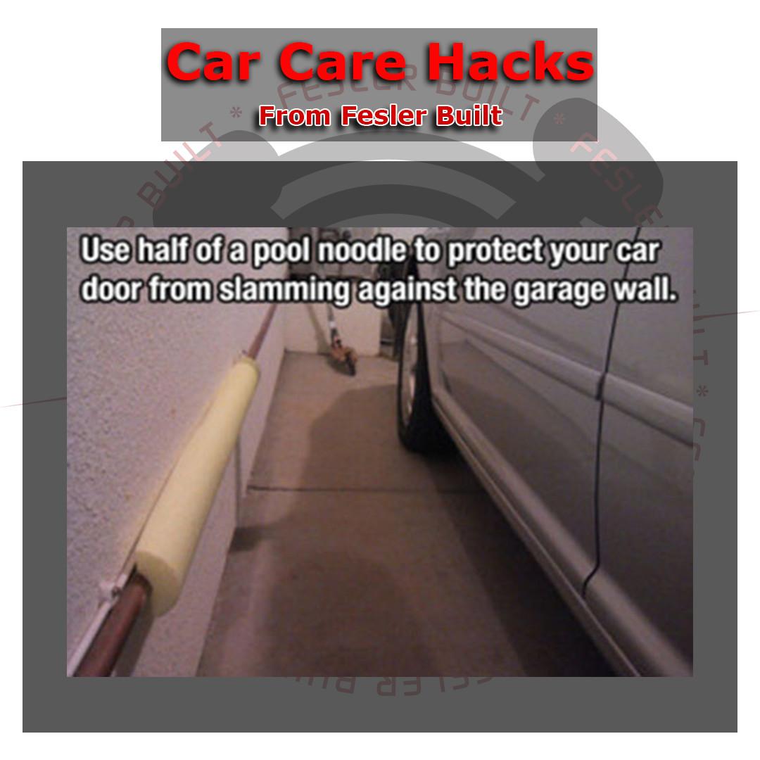 Fesler car care hacks 2 use half a pool noodle to protect car fcch wall noodle rubansaba